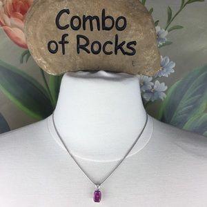Lia Sophia Purple Slider Pendant Necklace